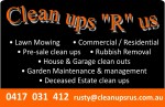 Clean ups R us